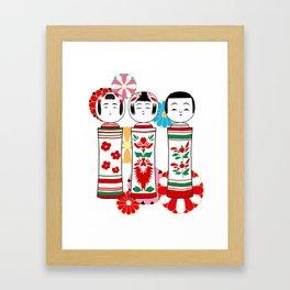 Kokeshidoll Framed Art Print
