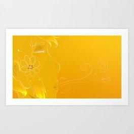 Golden breath Art Print