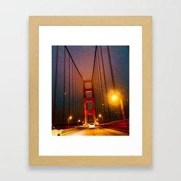 Glowing Landmark Framed Art Print