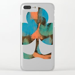 Scooters with classic scratch patterns Clear iPhone Case