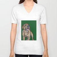 harry V-neck T-shirts featuring Harry by Pawblo Picasso