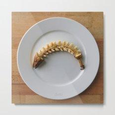 Banana Fishbone Metal Print