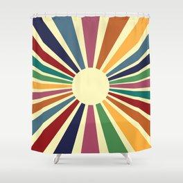 Sun Retro Art II Shower Curtain