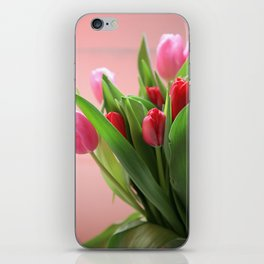 spring tulips photograph iPhone Skin