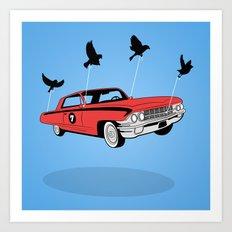 Four Wheel Fly Art Print