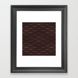 ELEGANT BLACK BEAN COPPER PATTERN Part3 Framed Art Print