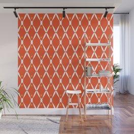 Orange Integration Pattern 2 Wall Mural