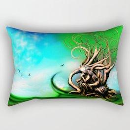 Tree Panel 3 of 3 Rectangular Pillow