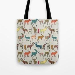 patterned deer stone Tote Bag