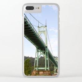 St John's Bridge Portland Clear iPhone Case
