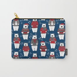 Polar Bear character cute christmas sweater polar bears nature illustration pattern Carry-All Pouch