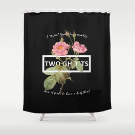 Harry Styles Two Ghosts graphic design Shower Curtain