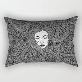 Girl's Hair Rectangular Pillow