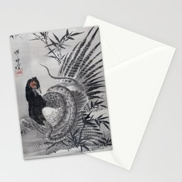Kawanabe Kyōsai Pheasant Caught by a Snake Stationery Cards