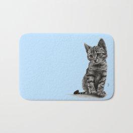 Kitty - PENCIL DRAWING Bath Mat