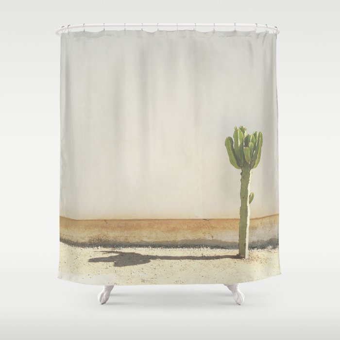 cactus taupe shower curtain by amberbarkley society6. Black Bedroom Furniture Sets. Home Design Ideas