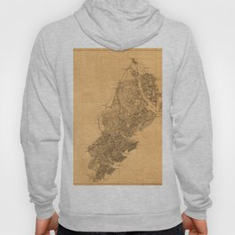Map Of Savannah 1861 Hoody