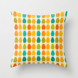 my neighbor pattern Throw Pillow