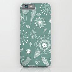 Flora Pattern II Light on Dark Slim Case iPhone 6s