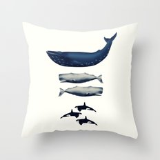 Whale Counting 123  Throw Pillow