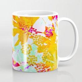 Tropical Adventure - Neon Orange, Pink and Mint Coffee Mug