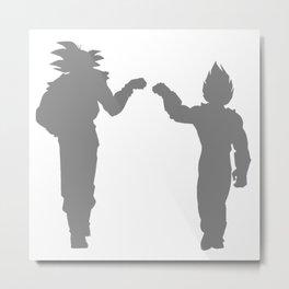 DBZ Goku Vegeta Shadows Metal Print