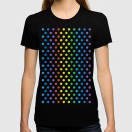 Polka-Dot Rainbow - Modern Abstract Artwork T-shirt