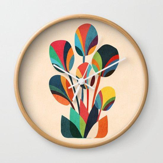 Ikebana - Geometric flower Wall Clock