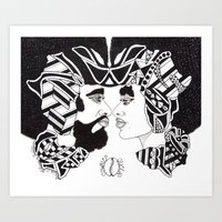 IN UNISON; LOVE BLACK Art Print