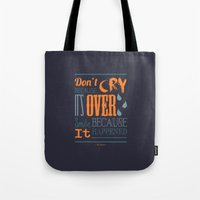 dr seuss Tote Bags featuring Dr. Seuss Quote  by Robert Woods
