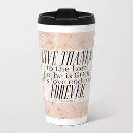 Give Thanks Metal Travel Mug