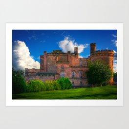 Dalhousie Castle of Scotland Art Print