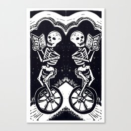 Unicycle Skeletons Canvas Print