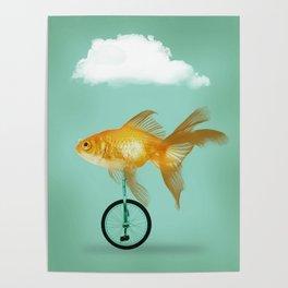 unicyle goldfish III Poster