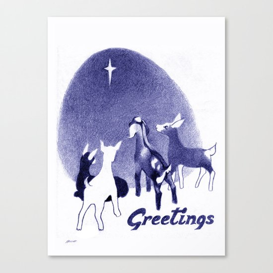 Christmas in the Stable Canvas Print