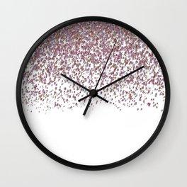 Sparkling rose quartz glitter confetti- Luxury design Wall Clock