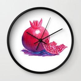 Poppin' Pomegranate Wall Clock