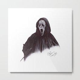 Ghostface - Ballpoint Pen Illustration Metal Print