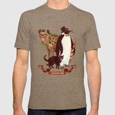 At the Arkham Zoo Tri-Coffee SMALL Mens Fitted Tee