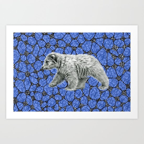 Polar Bear cub g016-006 Art Print