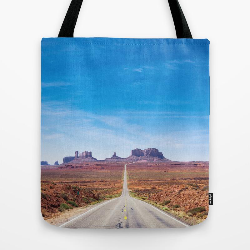 Open Road in the Desert Tote Bag