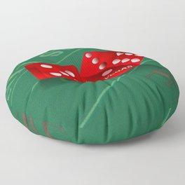 Craps Table & Red Las Vegas Dice Floor Pillow