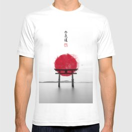 JAPANESE HINOMARU FLAG SIGNS T-shirt