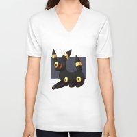 umbreon V-neck T-shirts featuring Umbreon by Mirikun