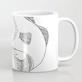 Barramundi Jumping Doodle Art Coffee Mug