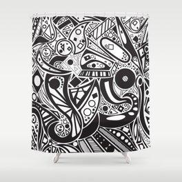 #doodles Shower Curtain