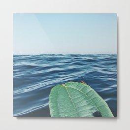 Leaf Surfing Metal Print