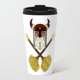 Golden Viking Minimal Art Travel Mug