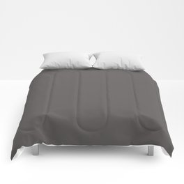 Cheap Solid Dark Gray Dolphin Color Comforters
