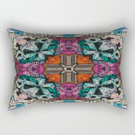 Street Art Kaleidoscope Rectangular Pillow